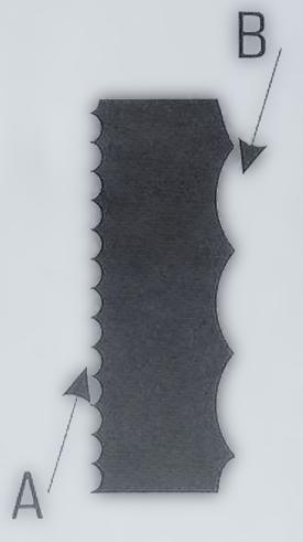 Dämmstoffmesser Schema Wellenschliff