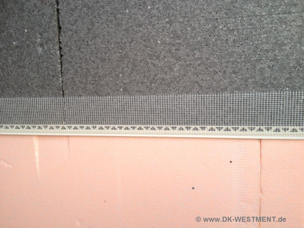 Extrem Gewebe-Abschlussprofil zum sauberen Abschluss beim Fassadenputz. TX26